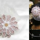 変わり菊の2wayコサージュ:お客様。 フェザーとチュールのコサージュ。 2011年