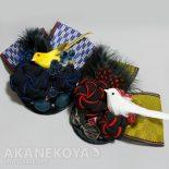 ねじり梅とトリのコサージュ(2017.05)