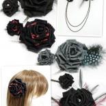 大小薔薇のツインコサージュ シルクの薔薇をアンティークゴールのチェーンで繋げました。 カーデやジャケットの左右に渡して着けたり、帯飾りにしたり。 チェーンは着脱可能。 大きな方の薔薇は2wayクリップなのでヘッドコサージュとしても使えます。 (2013.04)