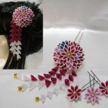 成人式の菊花かんざし。2010年