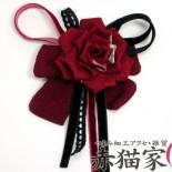 薔薇のりぼんスリーピン(2012年) スリーピン(ぱっちんどめ)タイプ。